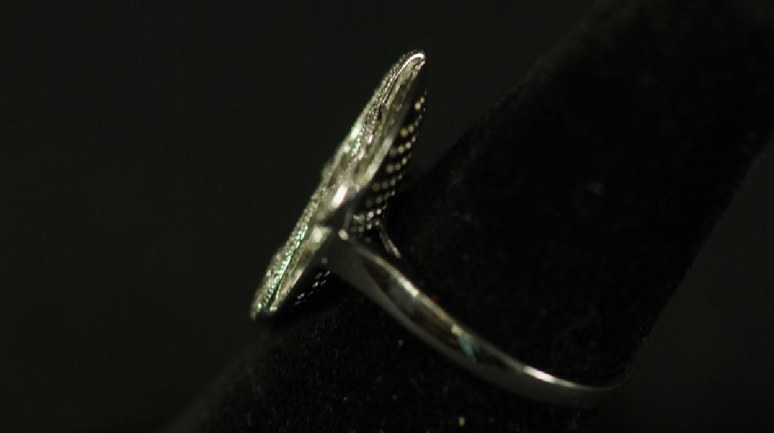 (195) DESIGNER WHITE SAPPHIRE RING - 2