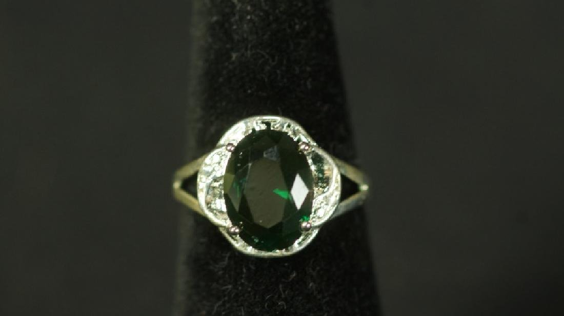 (197) EMERALD ESTATE RING