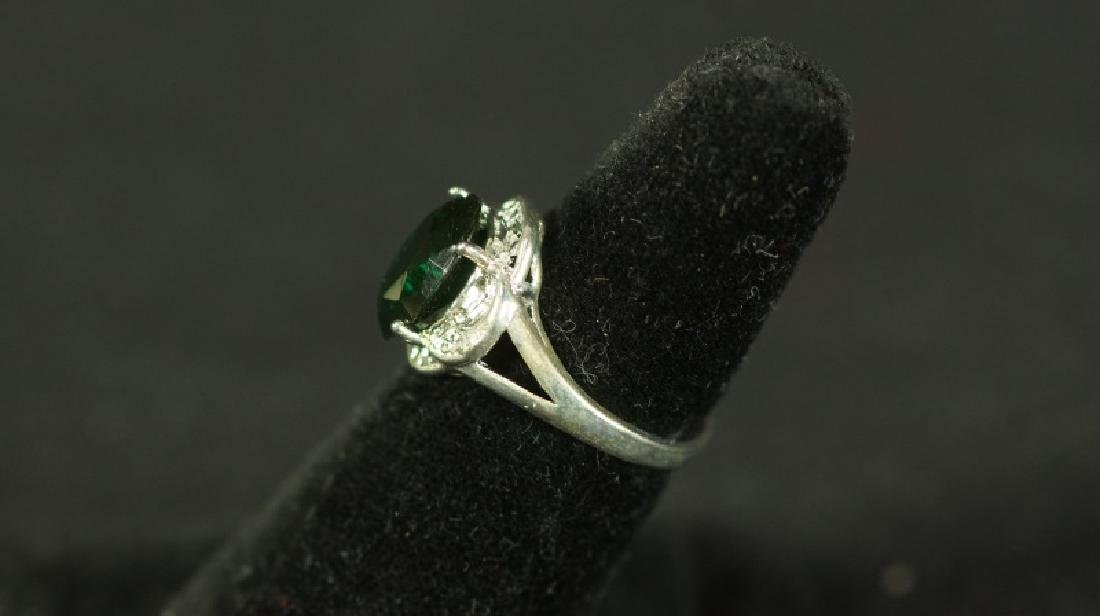 (197) EMERALD ESTATE RING - 2