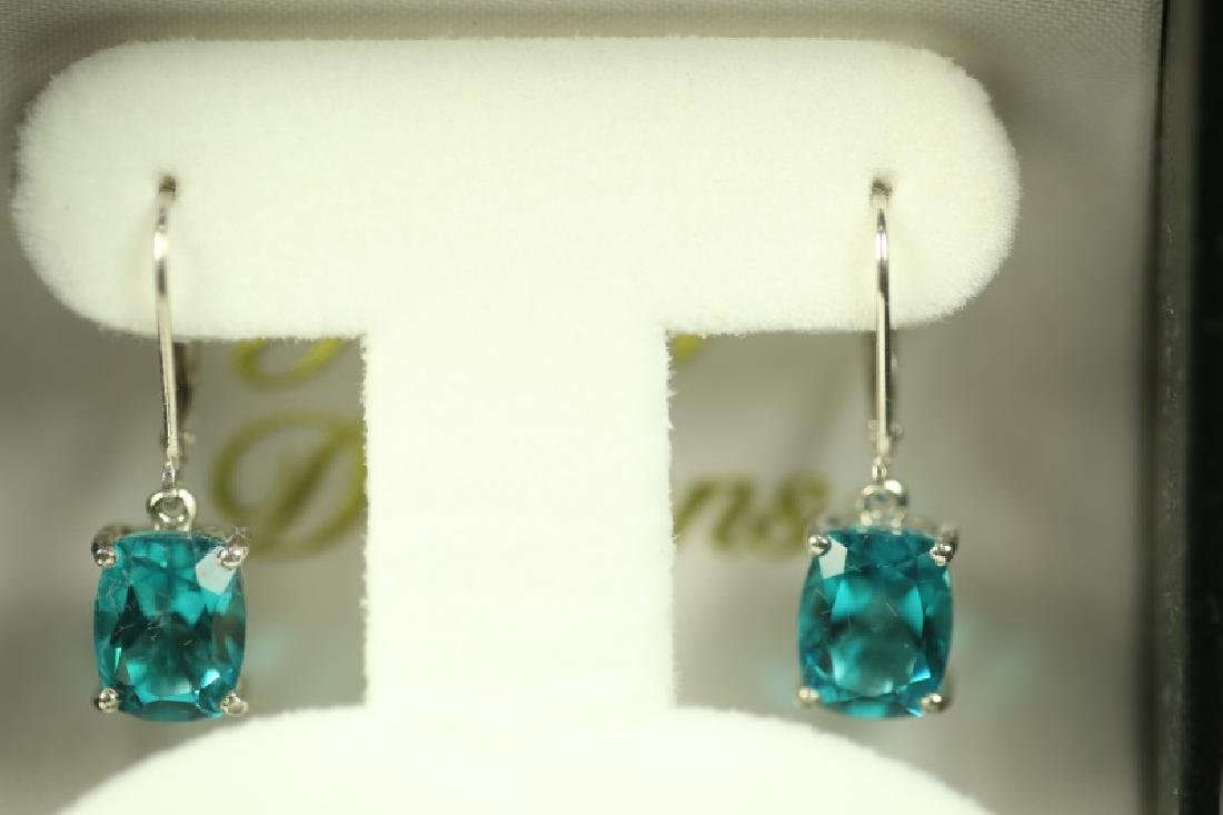 (45C) 5 Ct. LIGHT GREEN TOURMALINE ESTATE EARRINGS - 2
