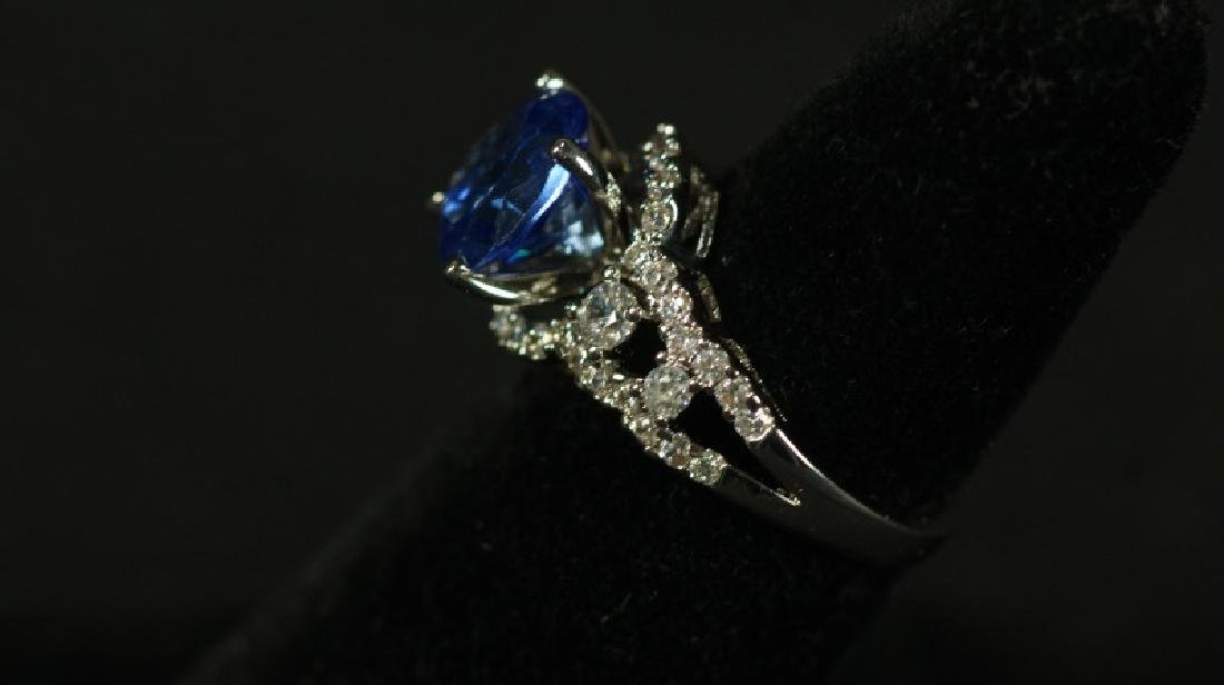 (55B) ROUND CUT TANZANITE DINNER RING - 2