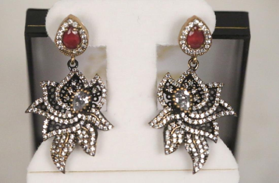 PAIR OF GENUINE RUBY ESTATE EARRINGS