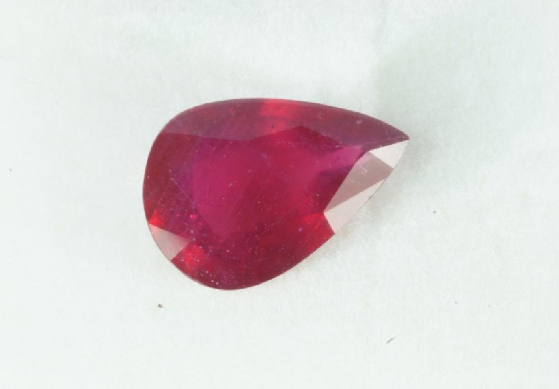 LOOSE STONE PEAR SHAPED RUBY TOTALING 10.03CTS - 2