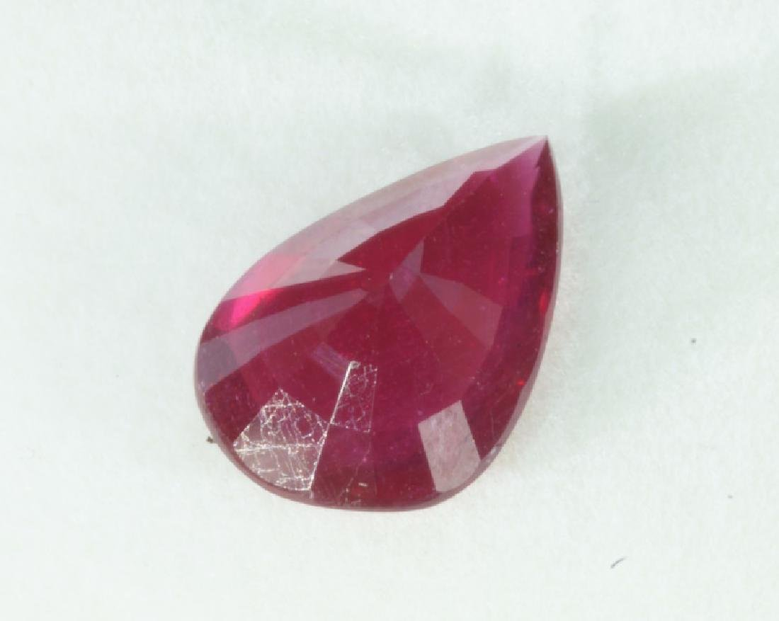 LOOSE STONE PEAR SHAPED RUBY TOTALING 10.03CTS - 3