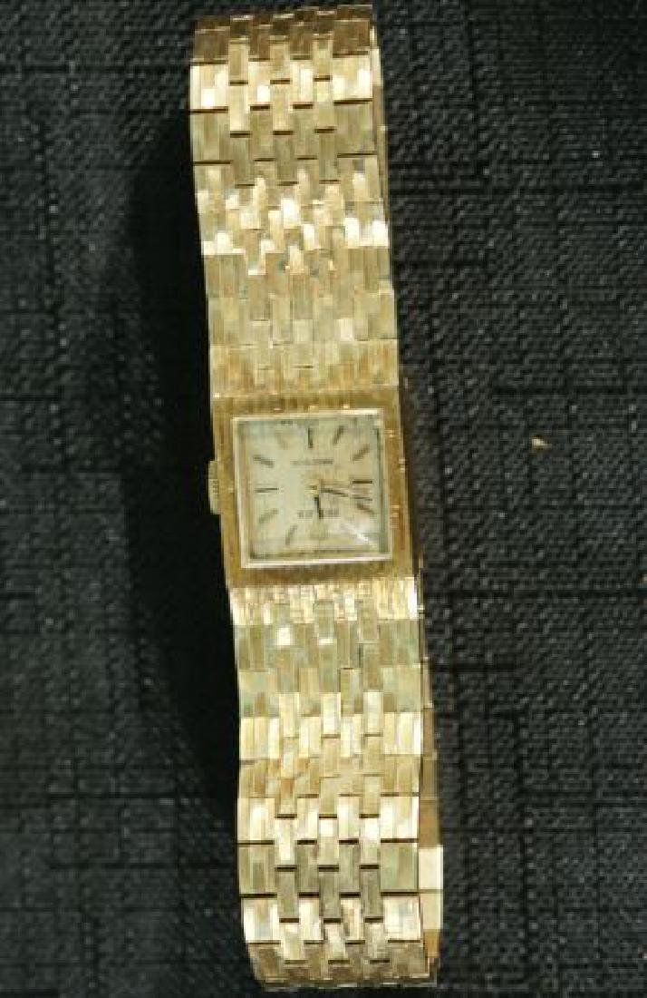 18KT GOLD ROLEX SQUARE FACE DINNER WATCH 46.2 GRAMS