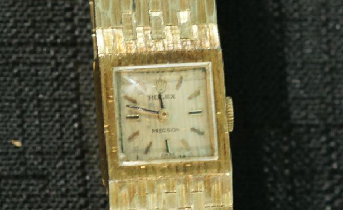 18KT GOLD ROLEX SQUARE FACE DINNER WATCH 46.2 GRAMS - 2