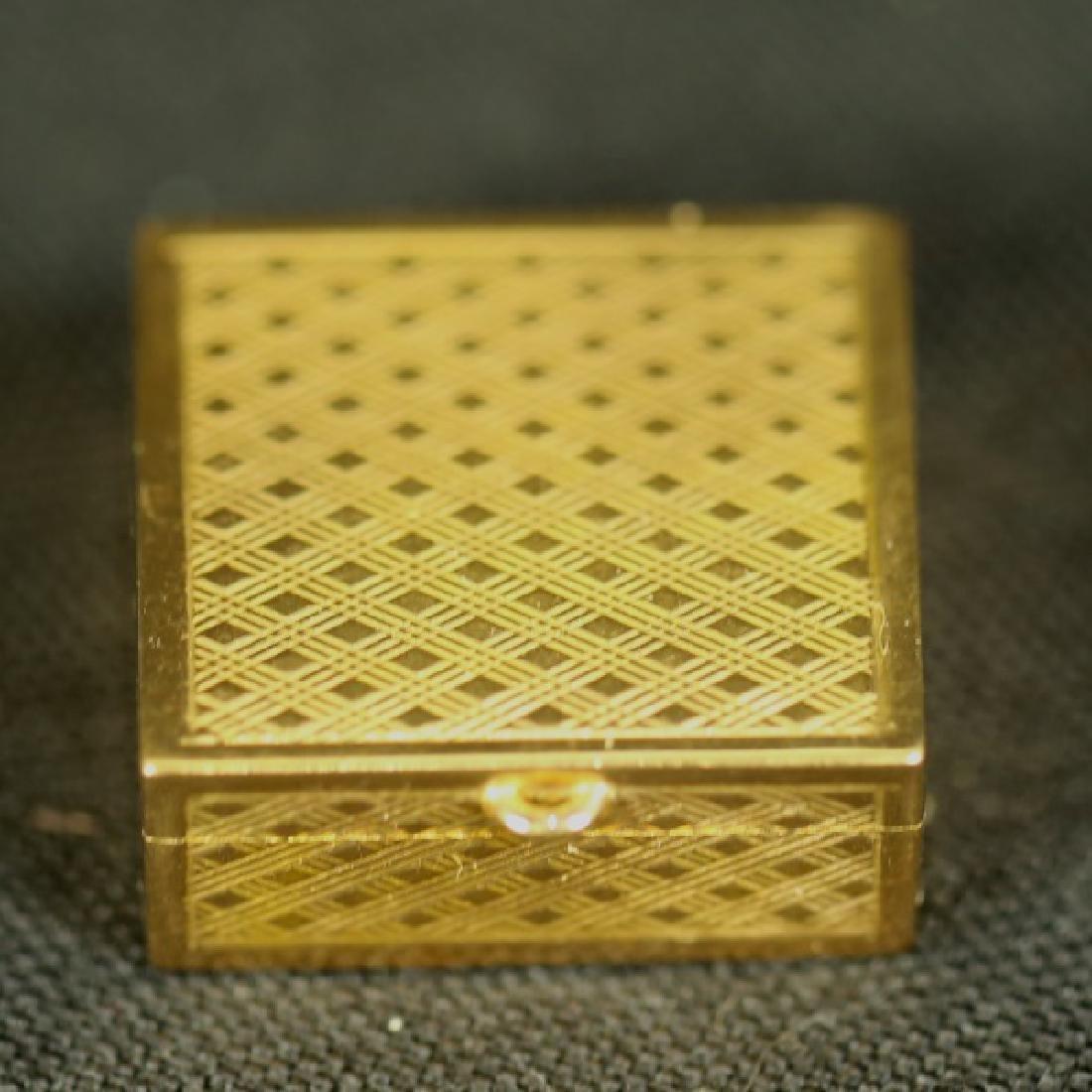 18KT GOLD BOX