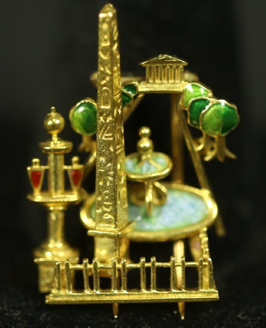 "18KT GOLD ""PARIS"" BROOCH BY FRED OF PARIS"