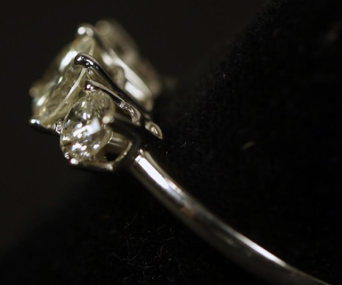 TRIPLE DIAMOND WHITE GOLD RING - 2