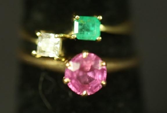 LOT OF TWO GOLD RINGS