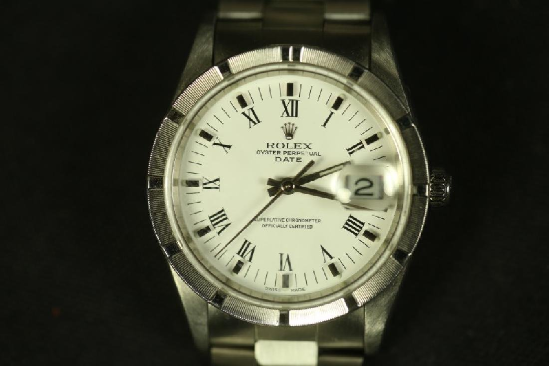 MENS ROLEX DAY DATE STAINLESS STEEL WATCH - 2