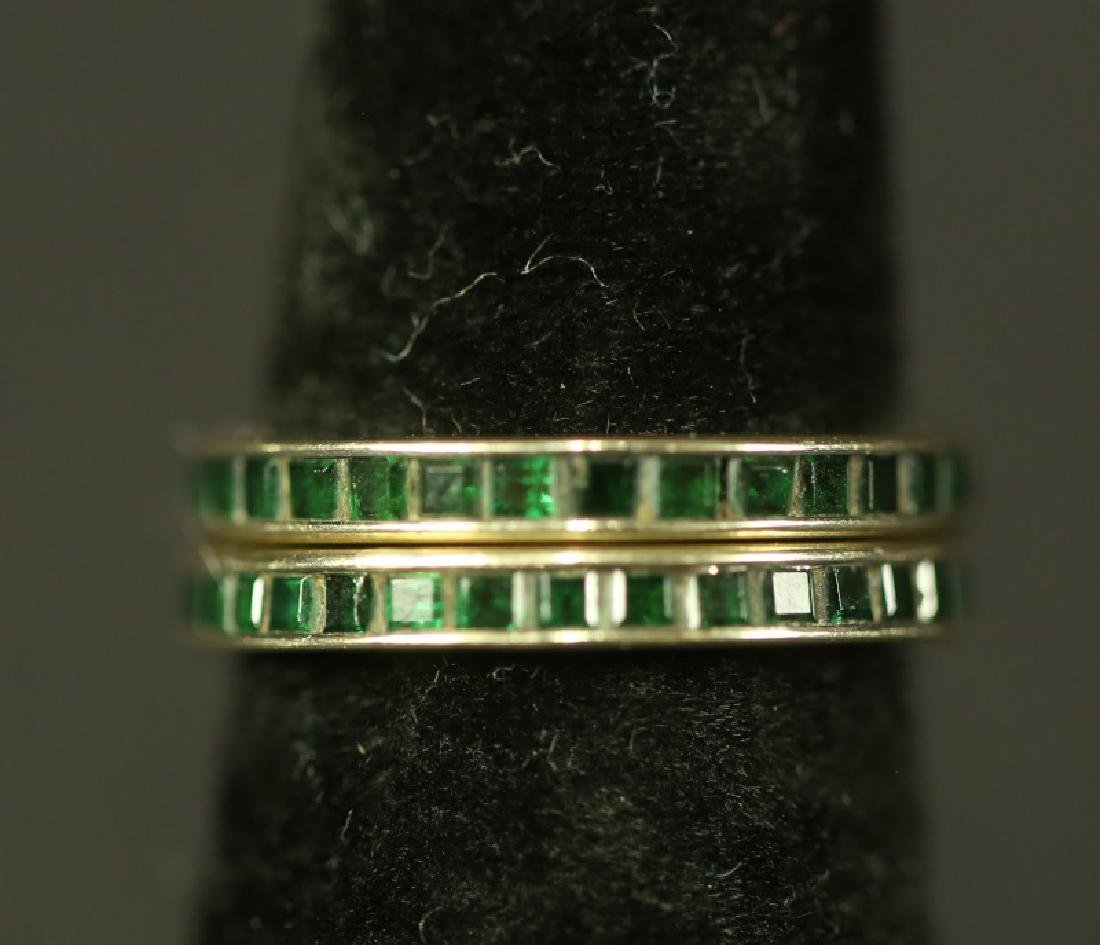 LOT OF TWO RINGS. 4 GRAMS T.W.