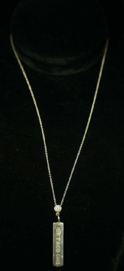 TIFFANY NECKLACE WITH STERLING  SILVER BAR PENDANT