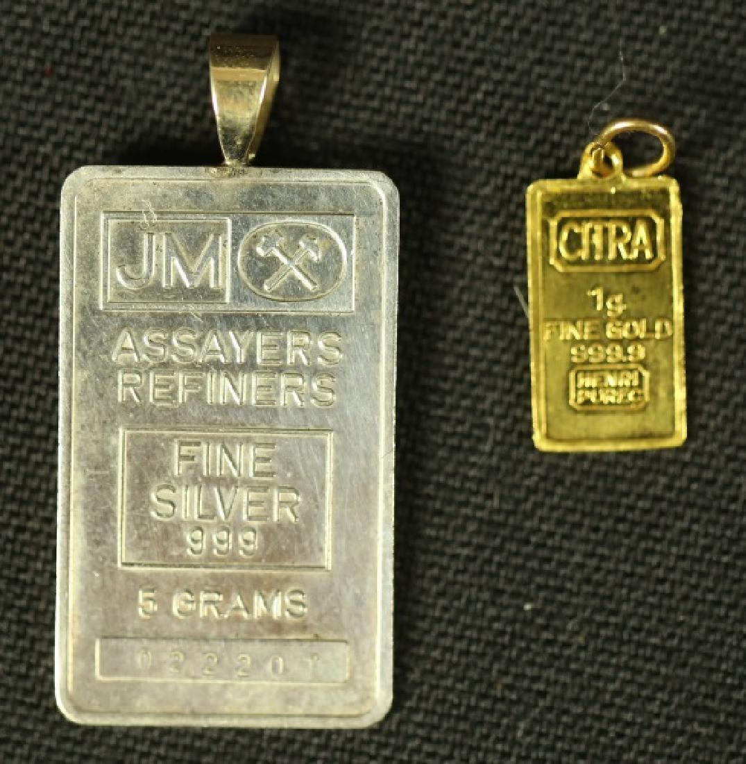 1 GRAM GOLD AND 5 GRAM SILVER DROP TAGS
