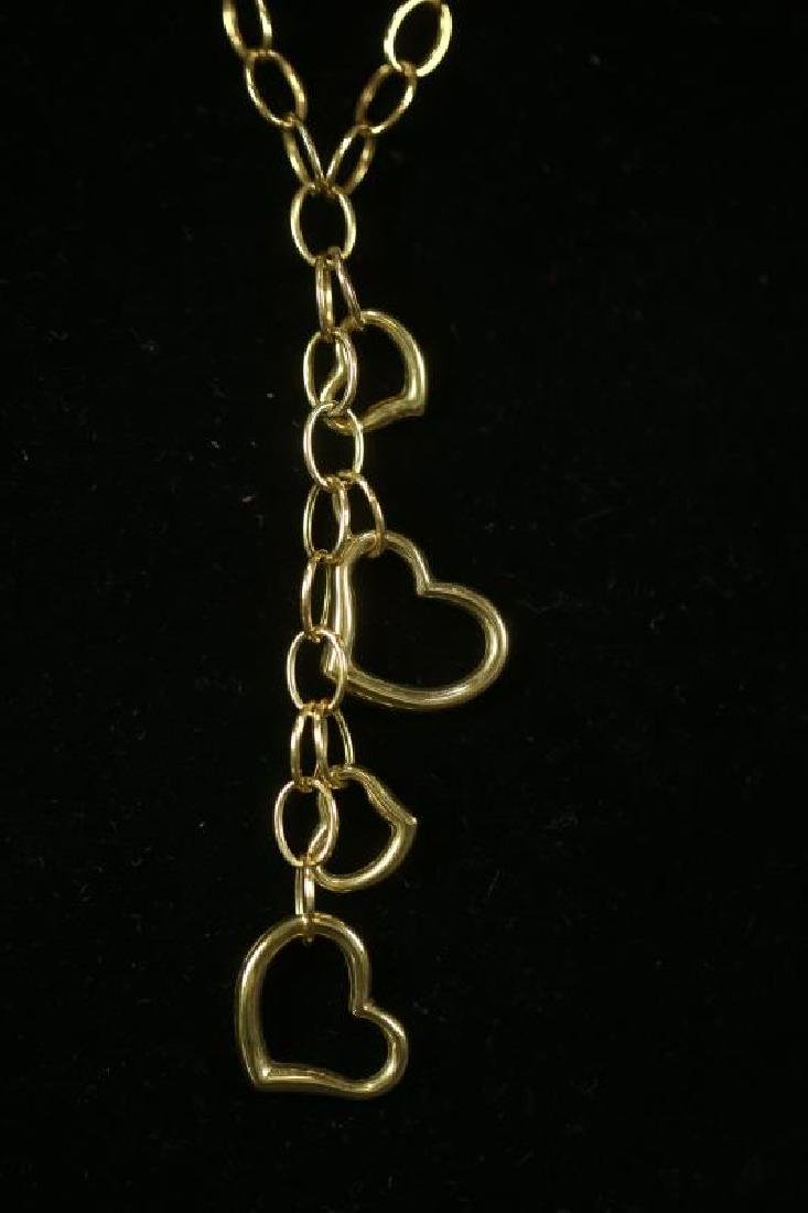 14 KT GOLD HEART NECKLACE - 2