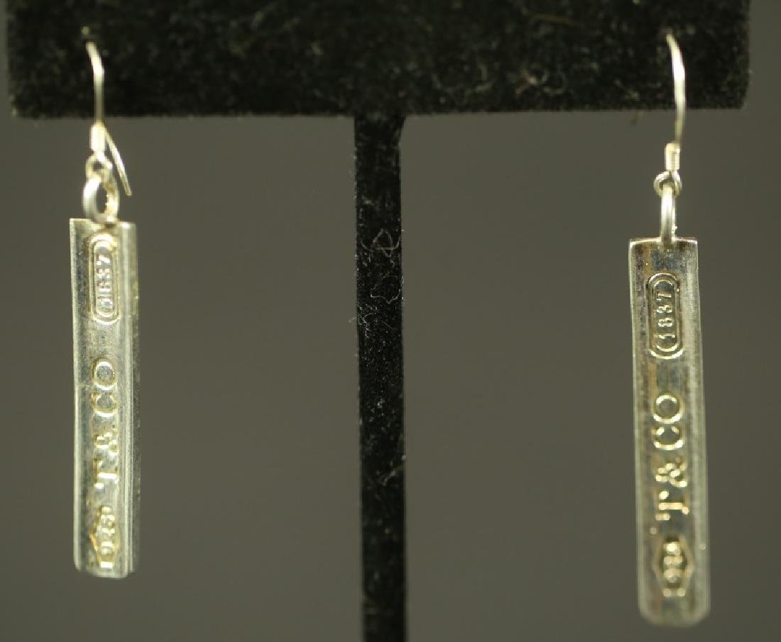 TIFFANY & CO STERLING SILVER BAR EARRINGS .925