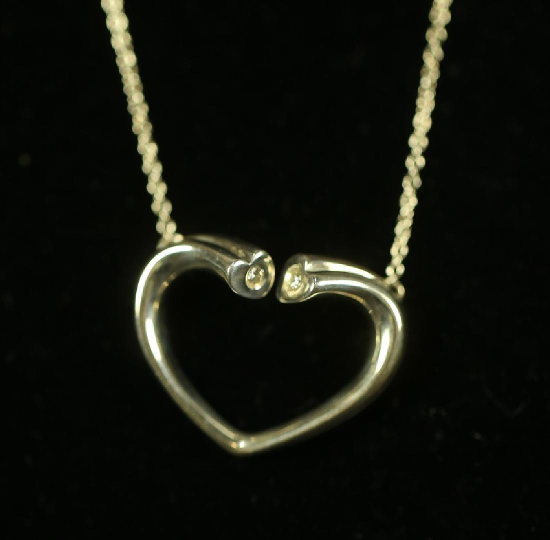 TIFFANY SILVER HEART NECKLACE - 2