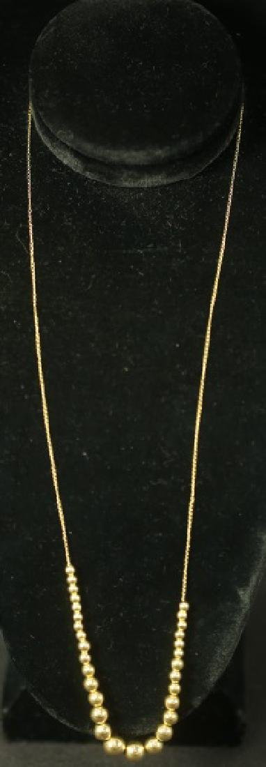 14 KT GOLD BEAD NECKLACE
