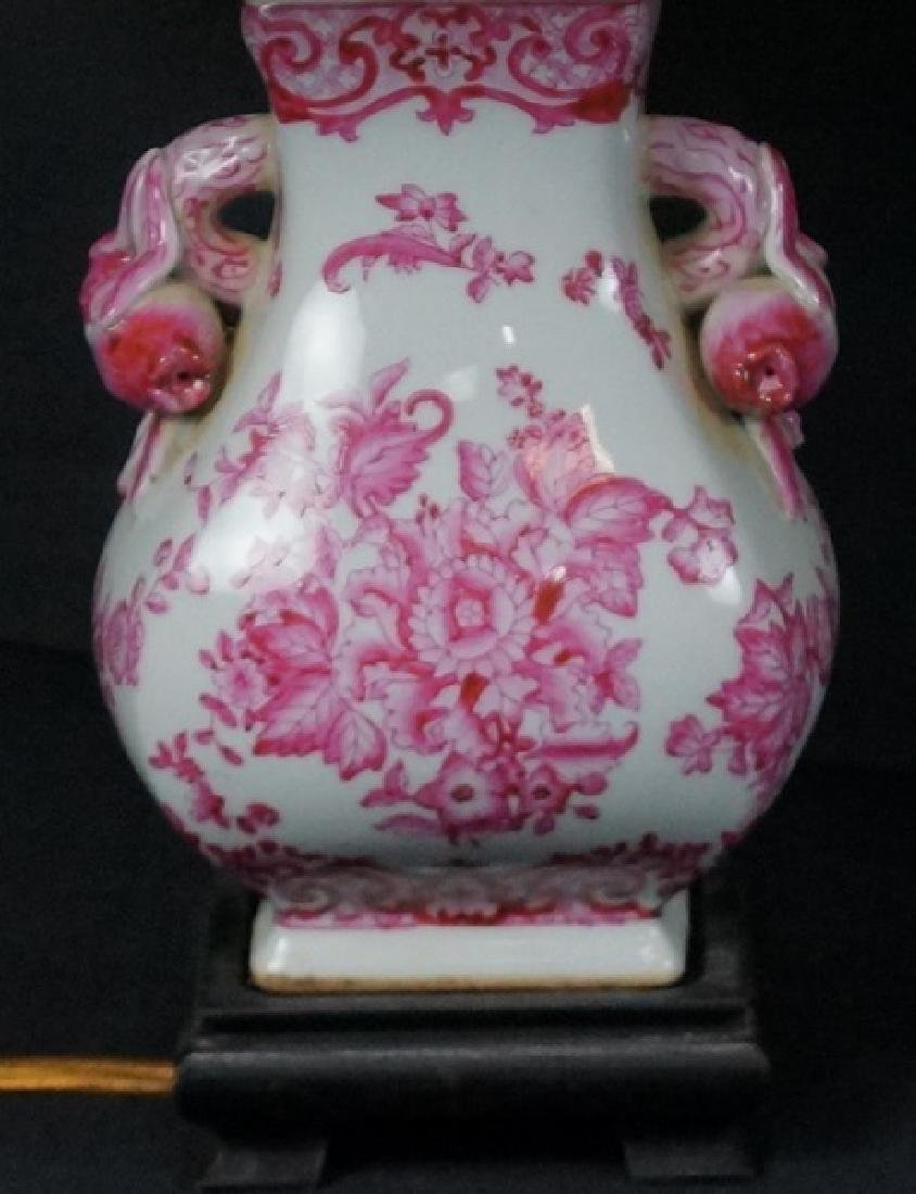 PAIR OF ASIAN PORCELAIN TEMPLE JAR LAMPS - 2