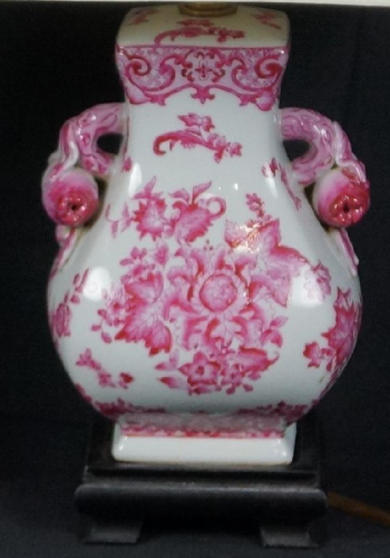 PAIR OF ASIAN PORCELAIN TEMPLE JAR LAMPS - 3