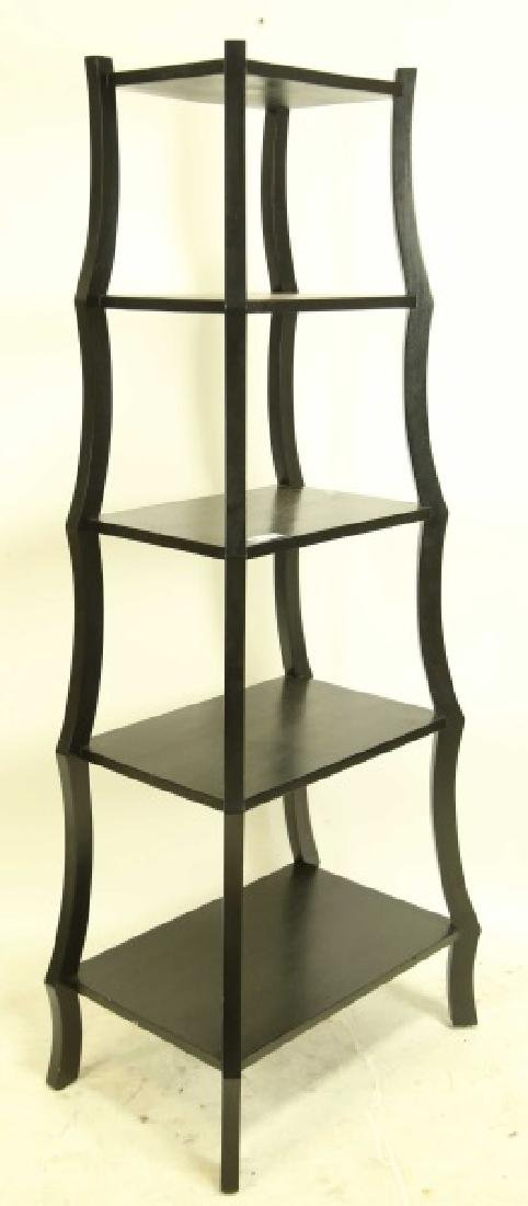 CONTEMPORARY FIVE-SHELF ETAGERE
