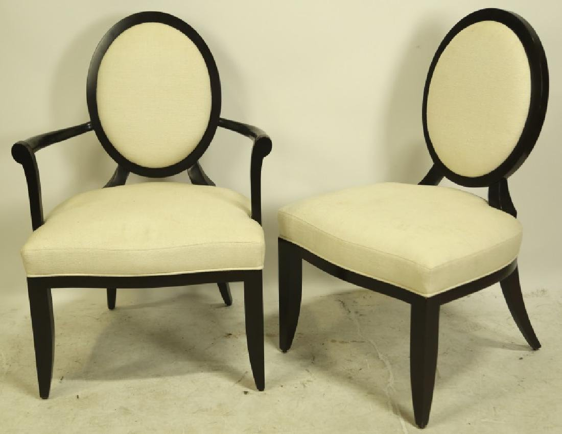 SET OF EIGHT BARBARA BARRY FOR BAKER DINING CHAIRS