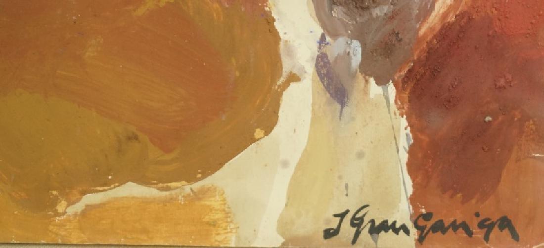 "JOSEP GARU-GARRIGA ""LAST SUPPER"" OIL ON PAPER - 3"