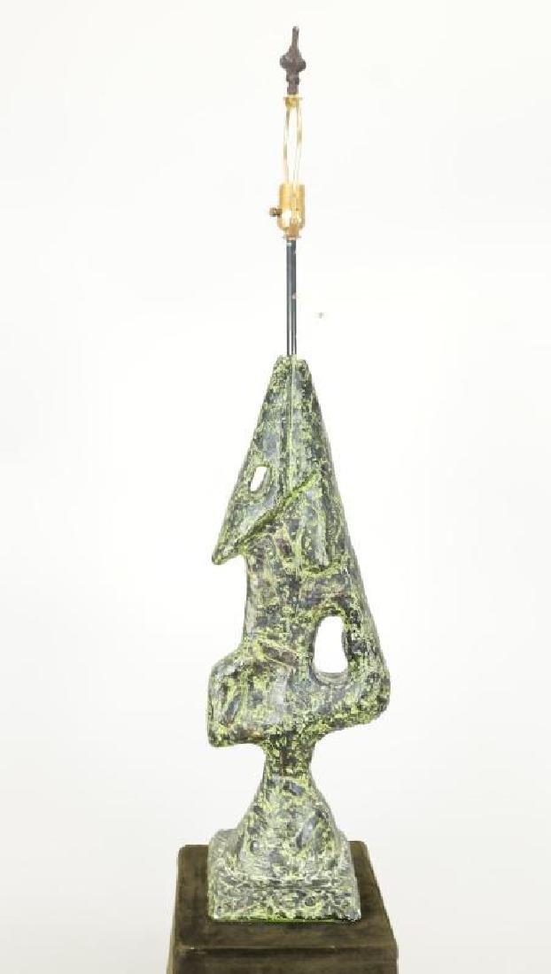 """MCM """"BRUTALIST"""" PATINAED PLASTER LAMP, CIRCA 1960'"""