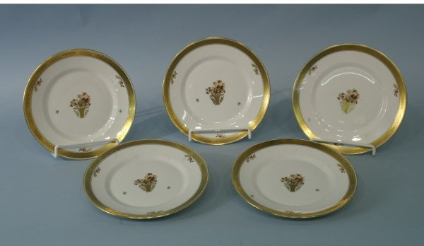 1003: Set of 5 porcelain plates made by Royal Copenhage