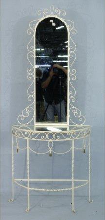1007: White iron vanity table