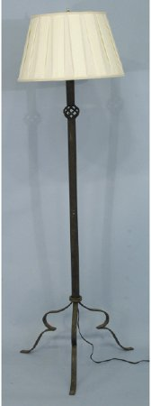 1008: Wrought iron floor lamp