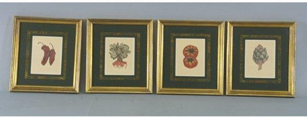 1010: Set of 4 prints of vegetables