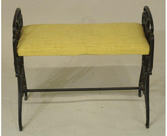 1020: Cast iron vanity bench circa 1940s
