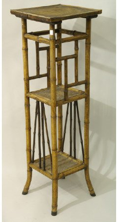 1261: Antique bamboo plant stand