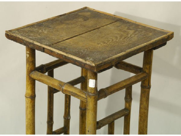 1261: Antique bamboo plant stand - 3