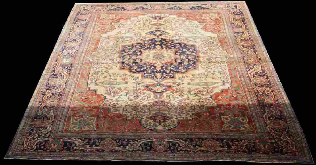ANTIQUE HAND KNOTTED PERSIAN KERMAN RUG