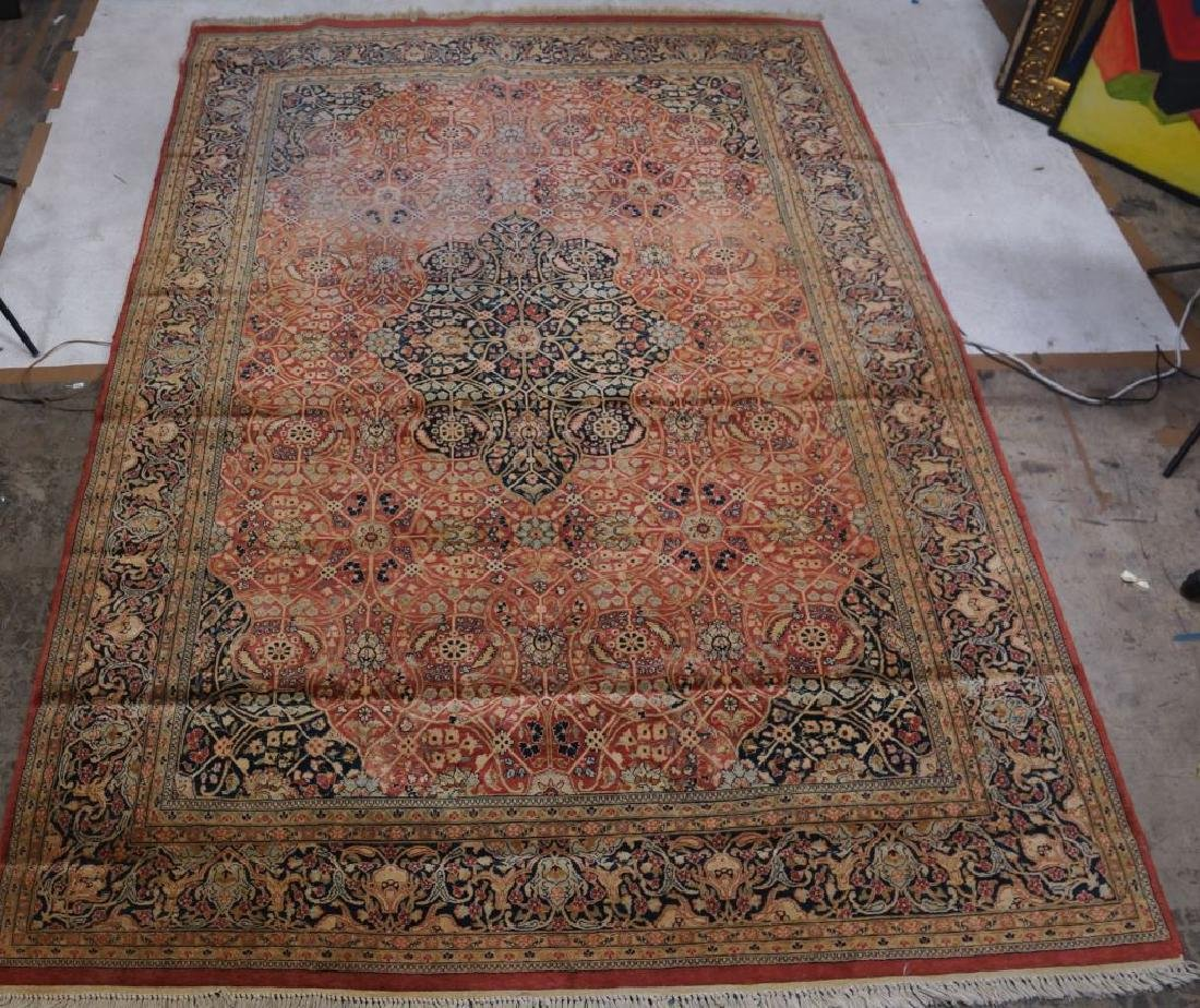 ANTIQUE HAND KNOTTED PERSIAN  RUG - 2
