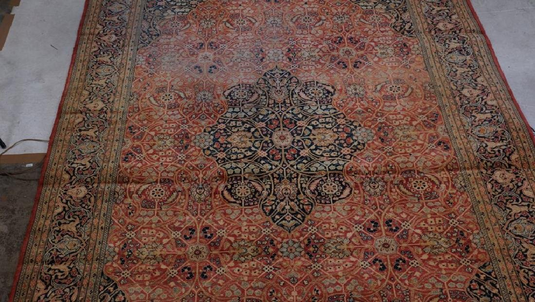 ANTIQUE HAND KNOTTED PERSIAN  RUG - 3