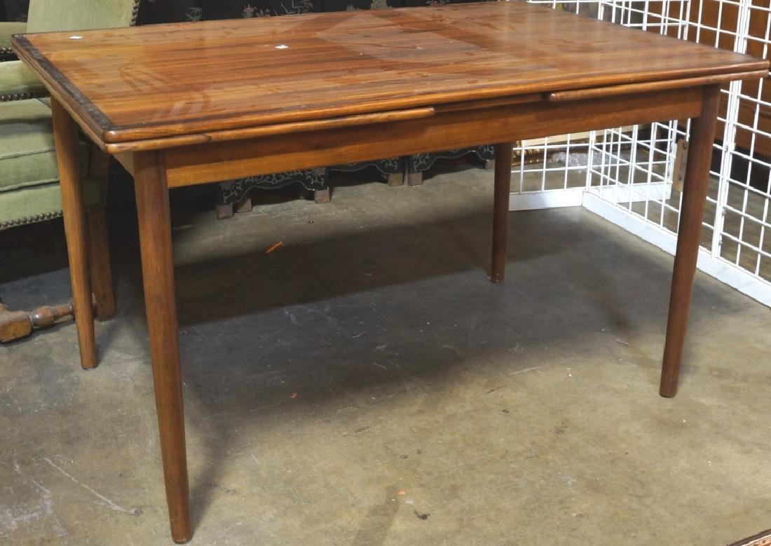 DANISH MODERN ROSEWOOD DRAW LEAF TABLE, CA. 1960's