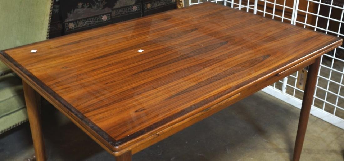 DANISH MODERN ROSEWOOD DRAW LEAF TABLE, CA. 1960's - 2