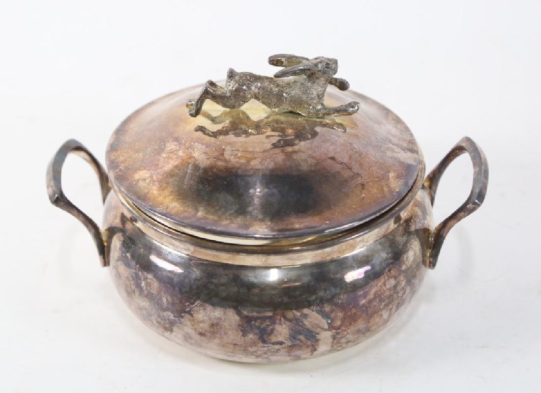 SILVER PLATED LIDDED BOWL