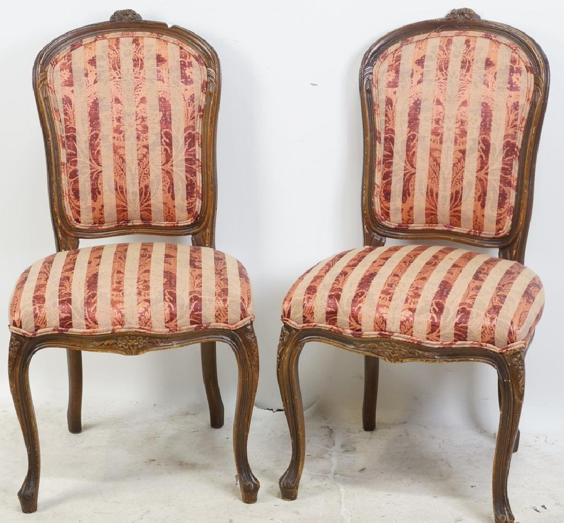 PAIR OF VINTAGE FRENCH SIDE CHAIRS