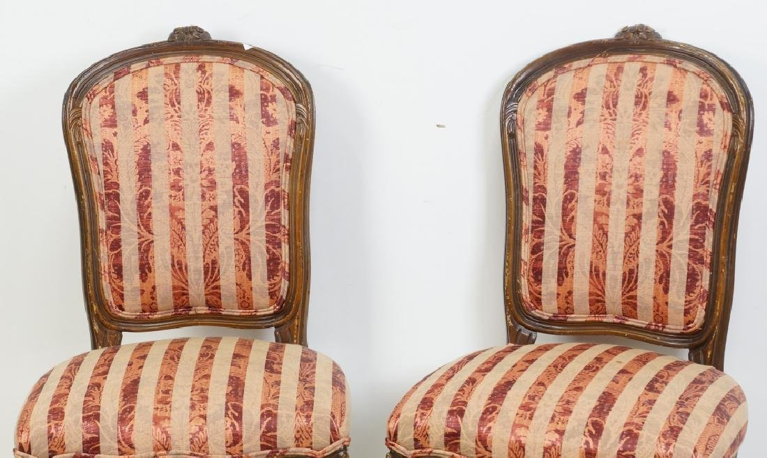 PAIR OF VINTAGE FRENCH SIDE CHAIRS - 2