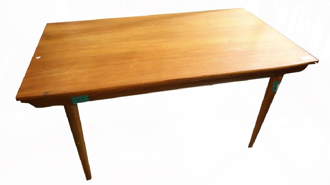 CIRCA 1960's DANISH MODERN TEAK DRAW LEAF TABLE