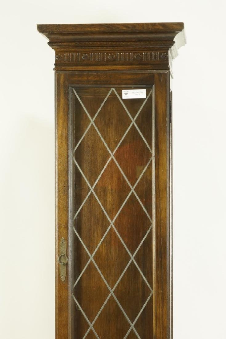 TALL DISPLAY CABINET WITH LEADED GLASS DOOR - 2