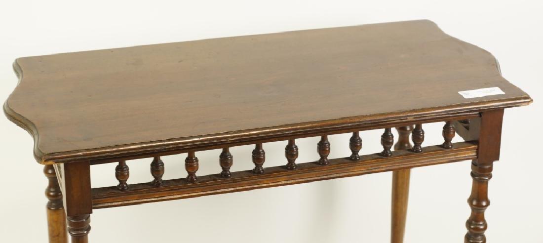 VICTORIAN MAHOGANY SIDE TABLE - 2