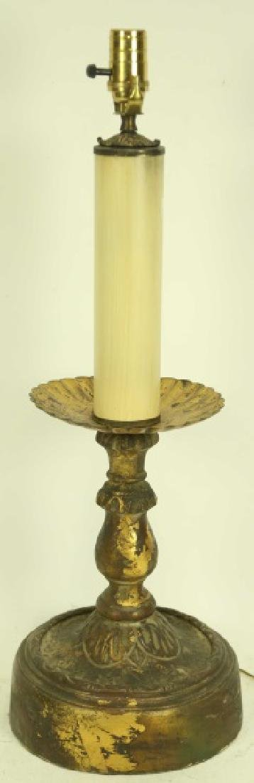 NICE VINTAGE CANDLESTICK LAMP