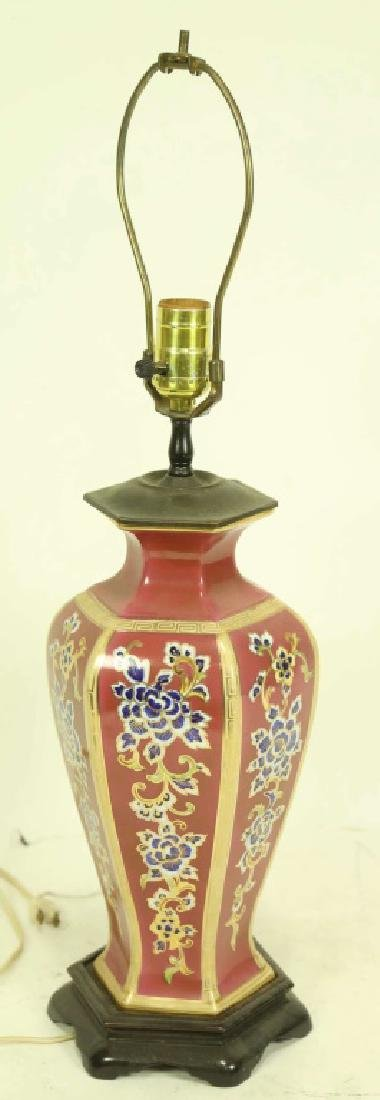 ANTIQUE PORCELAIN VASE LAMP
