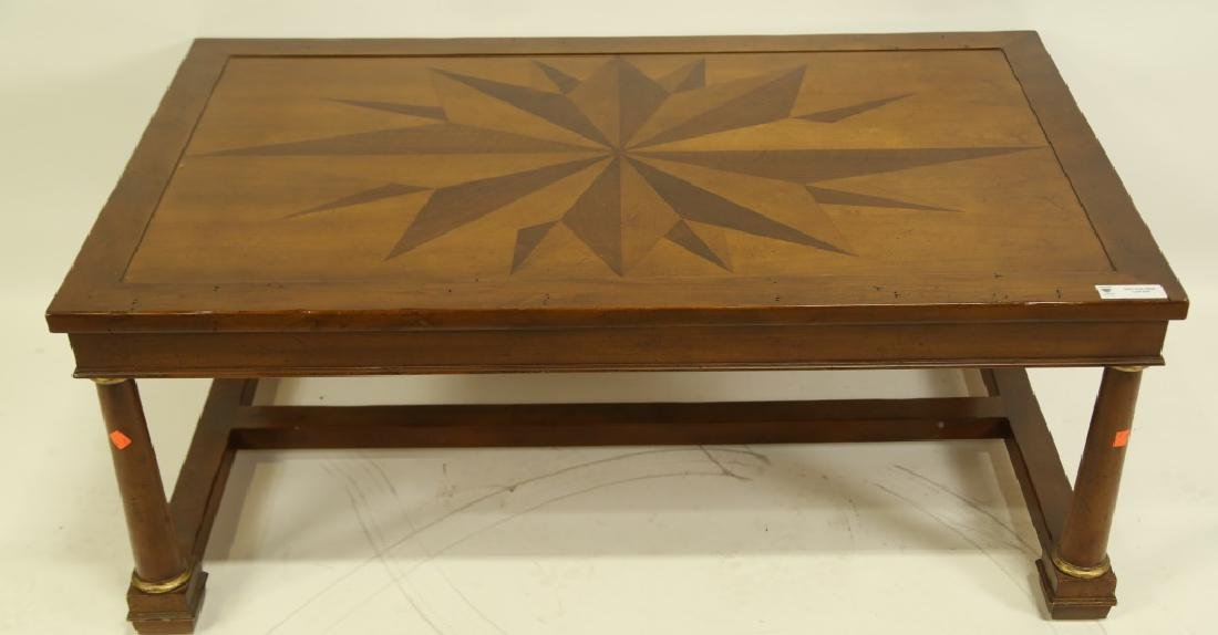 BAKER STAR INLAID COFFEE TABLE