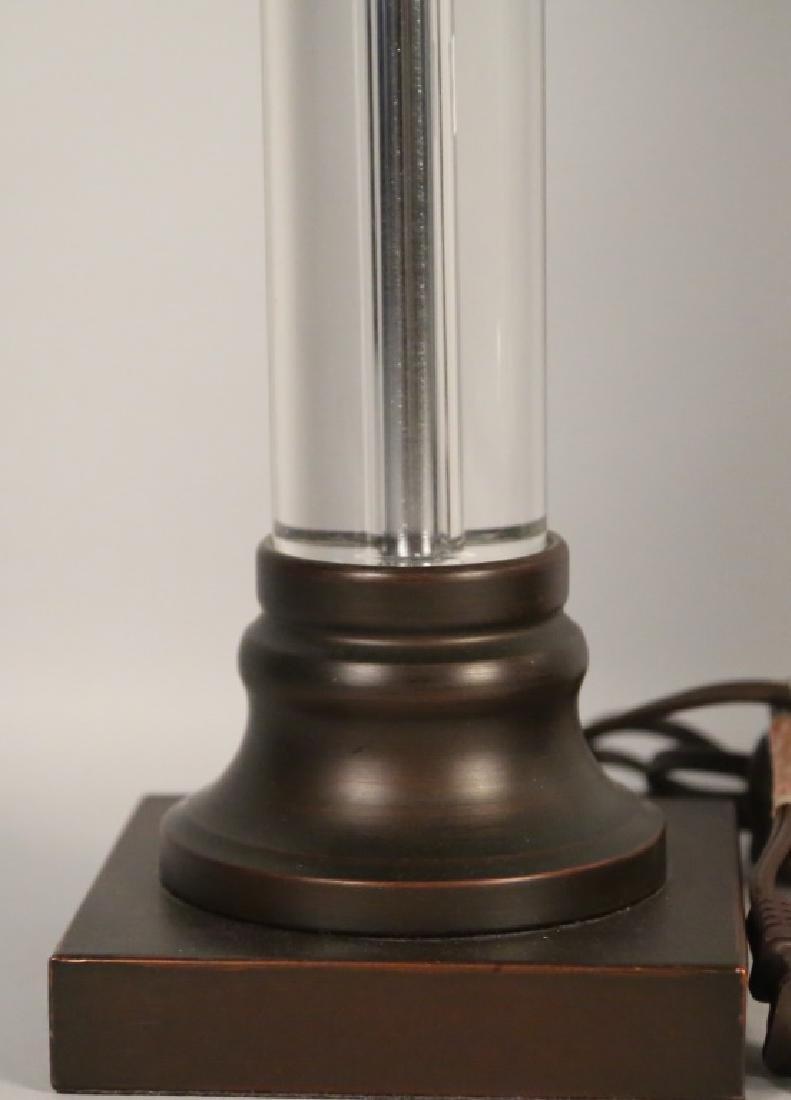 PAIR OF LUCITE LAMPS - 3